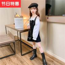 suit Other / other black The recommended height is 110cm for Size 110, 120cm for Size 120, 130cm for Size 130, 140cm for size 140, 150cm for size 150 and 160cm for size 160 female spring and autumn Korean version Long sleeve + skirt 2 pieces routine There are models in the real shooting nothing