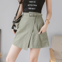 skirt Summer 2020 S,M,L,XL,2XL White, black, green, red Middle-skirt commute High waist A-line skirt Solid color Type A 18-24 years old 51% (inclusive) - 70% (inclusive) other other Korean version