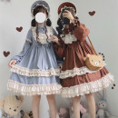 Dress Autumn of 2019 S M L Mid length dress singleton  Long sleeves Sweet Crew neck middle-waisted Solid color zipper Princess Dress Princess sleeve Others 18-24 years old Sizubfox / ancestor Fox kk1020 More than 95% other Other 100% Lolita Pure e-commerce (online only)