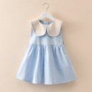 Dress Blue, yellow, sling yellow female Other / other 90cm,100cm,110cm,120cm,130cm Cotton 100% summer princess Skirt / vest Solid color cotton A-line skirt Sleeveless knitted skirt Class B 12 months, 6 months, 9 months, 18 months, 2 years old, 3 years old, 4 years old, 5 years old, 6 years old
