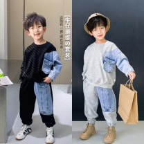 suit Other / other Gray, black male spring and autumn leisure time Long sleeve + pants 2 pieces routine There are models in the real shooting Socket nothing other cotton AT5031 Class B Cotton 95% other 5% Chinese Mainland Zhejiang Province Huzhou City