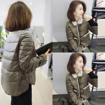 Down Jackets Winter of 2019 Han Gusu Black, dark green S M L XL White duck down 90% routine Long sleeves routine Single breasted other street routine Straight cylinder Solid color F184n04897p3363 100g (including) - 150g (excluding) Hairy collar 30-34 years old 81% (inclusive) - 90% (inclusive)