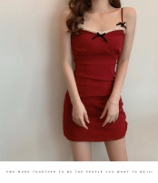 Dress Summer 2020 S, M Short skirt singleton  Short sleeve commute square neck High waist Solid color 18-24 years old Other / other Korean version