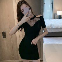 Women's large Summer 2021 White black S M L Short sleeve Crew neck other Weibordan Short skirt Other 100%