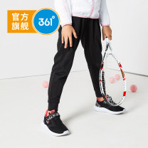 trousers 361° female 130cm 140cm 150cm 160cm 165cm Bs1d154 gray gray light tile gray carbon black spring and autumn trousers leisure time No model Casual pants Leather belt middle-waisted cotton Don't open the crotch Cotton 85.7% polyester 14.3% N61923558-AL Class B N61923558 Spring of 2019