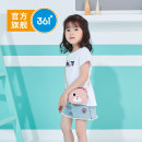 T-shirt 361° female summer Short sleeve Crew neck leisure time nothing cotton other Cotton 93% other 7% Class B Sweat absorption Summer 2020 Three years old, four years old, five years old and six years old Chinese Mainland Fujian Province Quanzhou City