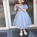 Family clothes for parents and children 90cm,100cm,110cm,120cm,130cm,140cm,150cm other Blue zipper