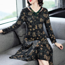 Dress Spring 2021 Picture color-9027 L XL 2XL 3XL 4XL Mid length dress singleton  Long sleeves commute V-neck middle-waisted Decor Socket routine Others 40-49 years old Xirusa Korean version KTT-9027 More than 95% other Other 100% Exclusive payment of tmall