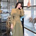 Hanfu 51% (inclusive) - 70% (inclusive) Autumn 2020 Avocado Green Black S M L XL polyester fiber