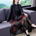 Middle aged and old women's wear Autumn 2020 Black red L XL 2XL 3XL 4XL 5XL Intellectuality Dress Straight cylinder singleton  other 40-49 years old routine JSMWu2f Ji Simo other Other 100% 96% and above Pure e-commerce (online only) Medium length