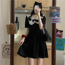 Dress Summer 2021 Picture color S M Short skirt singleton  Short sleeve commute Doll Collar High waist Solid color Socket puff sleeve Others 18-24 years old Emperor's paradise Korean version More than 95% other Other 100% Pure e-commerce (online only)