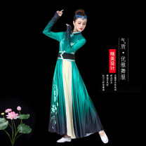 National costume / stage costume Autumn of 2019 Dark green gradient S M L XL XXL XXL XXL large XXL Polyester 100% Pure e-commerce (online only)
