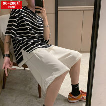 Women's large Summer 2021 Black gray white S (90-105 kg) m (105-120 kg) l (125-145 kg) XL (145-165 kg) 2XL (170-200 kg) trousers singleton  street easy moderate Conjoined Solid color polyester Three dimensional cutting WRZB-202103030017 wrzb 18-24 years old 96% and above Polyester 100% shorts neutral