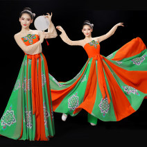 National costume / stage costume Spring 2021 Printing money of Tang Dynasty 140 150 S M L XL XXL MKL - 017 Miaokeli Triacetate fiber (triacetate fiber) 30% other 70% polyester fiber