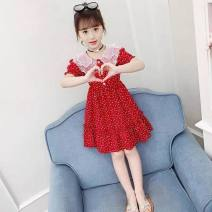 Dress female Other / other Other 100% Wave point Artificial colored cotton Cake skirt 3 months Big red love peach, black love peach 110 2-3 years old 90-105120 3-4 years old 105-115130 5-6 years old 115-125140 7-8 years old 125-135150 9-10 years old 135-145160 12 years old+