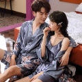 Nightgown / bathrobe Other / other lovers Thin money luxurious spring 81% (inclusive) - 95% (inclusive) silk Plants and flowers youth two thousand and ninety printing