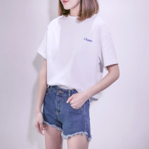 T-shirt M,L,XL,2XL Summer of 2018 Short sleeve Crew neck easy Regular routine commute cotton 86% (inclusive) -95% (inclusive) 18-24 years old Korean version youth Other / other