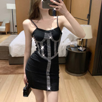 short coat Summer 2021 S M black Short sleeve singleton  commute Yi Kaili 96% and above Diamond inlay D6859 other Other 100% Pure e-commerce (online only)
