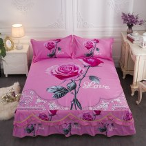 Bed skirt 135cmx200cm,150cmx200cm,100cmx200cm,120cmx200cm cotton Other / other Plants and flowers Qualified products