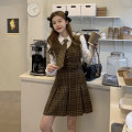 Fashion suit Spring 2021 S M L Hot plaid skirt + white shirt + tie 18-25 years old Subbaoanop / plain clothes 12.28.8265# polyester fiber Polyester 45% other 55% Pure e-commerce (online only)