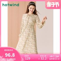 Dress Autumn 2020 24 decors S M L XL Mid length dress singleton  Long sleeves Sweet Doll Collar middle-waisted other Socket other routine Others 18-24 years old Type H Hot wind More than 95% Chiffon polyester fiber Polyester 100% Countryside Same model in shopping mall (sold online and offline)