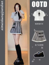 Women's large Korean version Summer 2021 Two piece set commute Dress 766565445ddff 18-24 years old Kunianduo Other 100% Same model in shopping mall (sold online and offline) S M L XL Top Skirt Top + skirt