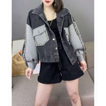 short coat Autumn 2020 S M L XL Graph color Long sleeves have cash less than that is registered in the accounts routine singleton  Straight cylinder street routine stand collar Single breasted other 30-34 years old Miheng 96% and above BB203v12403p3002 other Other 100% Pure e-commerce (online only)