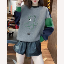 Sweater / sweater Spring 2021 grey S M L XL Long sleeves have cash less than that is registered in the accounts Socket singleton  routine Crew neck Straight cylinder street routine Cartoon animation 30-34 years old 96% and above Miheng other BB211v15255p1220 Other 100% Pure e-commerce (online only)