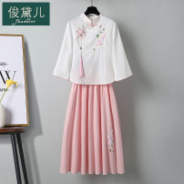 jacket Summer 2021 Ml XL XXL 3XL is too small, it is recommended to take one more yard average JDE21C311004 Jundaier 25-35 years old Cotton 75% flax 25% Pure e-commerce (online only)