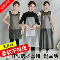 apron White (neck style) black (neck style) white (vest style) black (vest style) white (hand wipe style) black (hand wipe style) white (extended style) black (extended style) Sleeveless apron waterproof Korean version other Household cleaning Average size F10583 Muchun public no Solid color