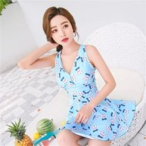 one piece  Other brands No chest pad E38297 male Short sleeve Casual swimsuit