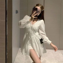 Dress / evening wear Daily appointment S M L XL Shirt + shorts Korean version Autumn 2020 18-25 years old L4479 Long sleeves AdanYC Other 100% Pure e-commerce (online only)