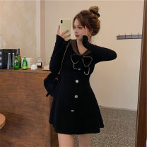 Dress / evening wear Daily appointment S M L XL Apricot black Korean version Winter 2020 18-25 years old L6576 Long sleeves AdanYC Other 100% Pure e-commerce (online only)