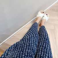 Casual pants Navy Blue 0,2,4 Summer 2020 trousers Wide leg pants Natural waist commute Thin money 96% and above other lady