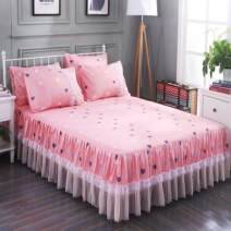 Bed skirt Single bed skirt 120cmx200cm, single bed skirt 150cmx200cm, single bed skirt 180cmx200cm, single bed skirt 180cmx220cm, single bed skirt 200cmx220cm, 2 pillowcases Others Strawberry, butterfly, flamingo, Xin gag, love, succulent, Xin crown, Xin wish Other / other Plants and flowers DL6009