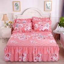 Bed skirt 120 * 200cm single bed skirt, 150 * 200cm single bed skirt, 180 * 200cm single bed skirt, 180 * 220cm single bed skirt, 200 * 220cm single bed skirt, a pair of pillowcases Others Other / other Plants and flowers Qualified products