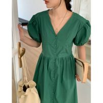 Dress Spring 2021 Green denim blue linen Average size Miniskirt 25-29 years old Give up 62621# More than 95% other Other 100% Pure e-commerce (online only)