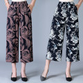 Middle aged and old women's wear Summer 2020 1, 2, 3, 4, 5, 6, 7, 8, 9 One size fits all (waist 66-106) fashion trousers easy singleton  Decor 40-49 years old Conjoined thin cotton 96% and above 7 / 9 pants