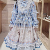 Dress Winter of 2019 Middle-skirt singleton  Long sleeves Sweet Crew neck middle-waisted other Socket other other Others 18-24 years old Type X Nell More than 95% other other Other 100% Lolita Pure e-commerce (online only)