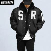 Jacket ASRV other black XL,L,M,XXL,XXXL ordinary Loose Other leisure See details G-3 Long sleeves Wear out stand collar routine Regular sleeve Solid color printing Side seam pocket