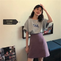 Fashion suit Summer 2021 S M L XL Grey top with purple skirt Xingti A3295 Other 100% Pure e-commerce (online only)