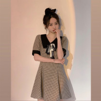 Dress Summer 2021 Picture color S M L XL Short skirt singleton  Short sleeve commute High waist routine Others 18-24 years old Xingti Korean version A3302 More than 95% other Other 100% Pure e-commerce (online only)