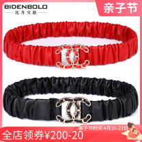 Belt / belt / chain Pu (artificial leather) 2552 black 2552 red 2552 white female Waistband Sweet Single loop Middle aged youth a hook Glossy surface Glossy surface 3.2cm alloy alone Bidenbolo / bidenboro BDBL2552 Summer 2020