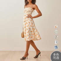 Dress Spring 2020 XS,S,M,L,XL Mid length dress singleton  Sleeveless Sweet Other / other other