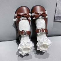 Low top shoes 39,35,37,38,36 Other / other Milky white, black, brown, white, lacquer black, brown Round head PVC chemical fiber Muffin bottom Flat heel (1cm or less) Midmouth Two layer pigskin Autumn 2020 Flat buckle Sweet Solid color rubber T-strap  bow PU x78IgA3B