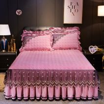 Bed skirt Others Yellow-sb9, coffee-75z, pink-8d7, rose red-22p, dousha-d5v, deep purple-21t, silver gray-ca8, doulv-603, olive green-832, blue-07t, Royal blue-w5s Other / other Solid color Qualified products
