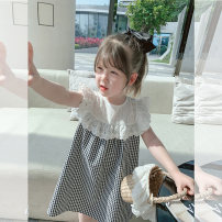 Dress female Other / other Other 100% summer leisure time Short sleeve lattice other other af95101 other Seven, six, five, four, three, two Chinese Mainland Black and white check 130cm,120cm,110cm,100cm,90cm