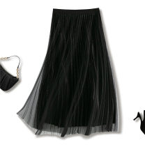 skirt Summer 2021 Average size 1602 black 1602 champagne 1602 apricot 1602 gray blue longuette commute High waist Pleated skirt Solid color Type A 25-29 years old S296-1602 More than 95% Lily Molly other fold Other 100%