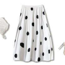 skirt Other 100% Summer 2021 Medium length skirt High waist A-line skirt Versatile More than 95% Dot other 25-29 years old Type A Lily Molly S299-9112 One size fits all 9112 white dots 9112 black dots 9112 apricot dots 9112 blue dots