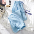 Casual pants XXL S M L XL Spring 2021 trousers Knickerbockers High waist commute routine 18-24 years old 30% and below cotton Korean version pocket cotton Polyester 65% Cotton 30% polyurethane elastic fiber (spandex) 5% Pure e-commerce (online only)